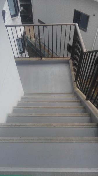 階段屋上・床防水工事・施工後